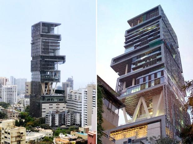 Mumbai la casa pi costosa del mondo di mukesh ambani for Piani di casa del vecchio mondo