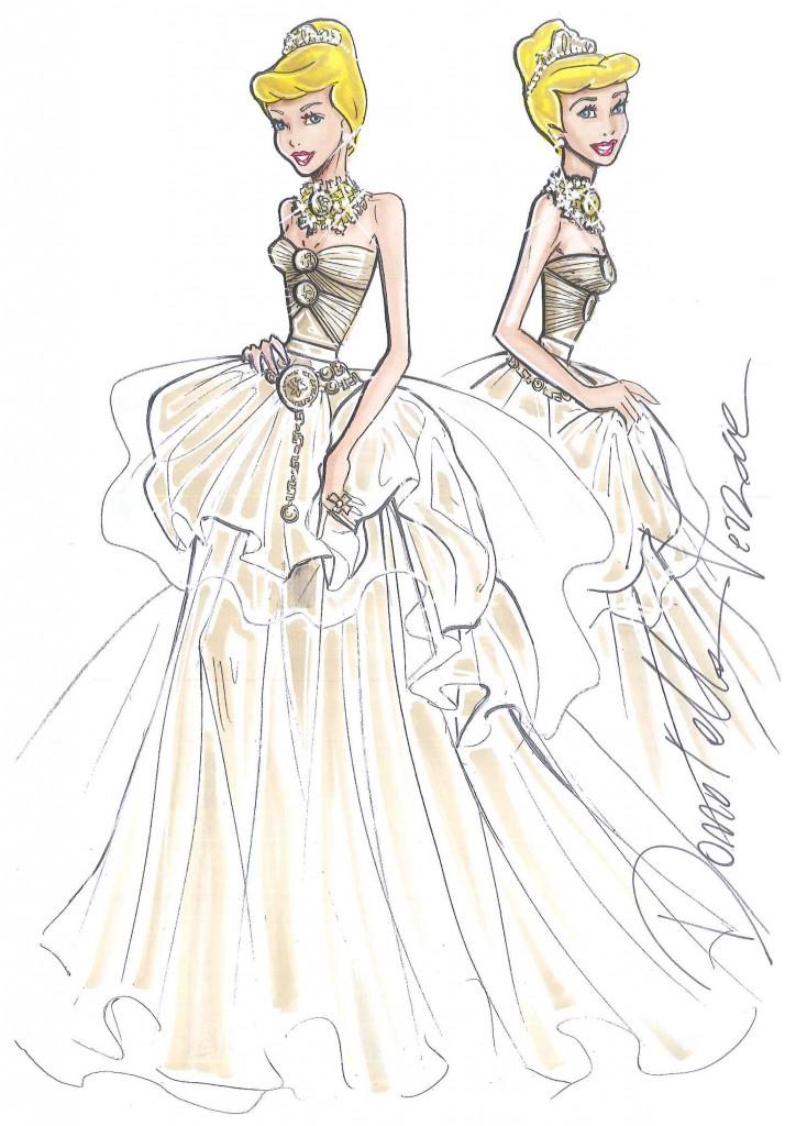 Eccezionale Versace, abito Cenerentola per il tributo a Walt Disney da Harrods  NQ14