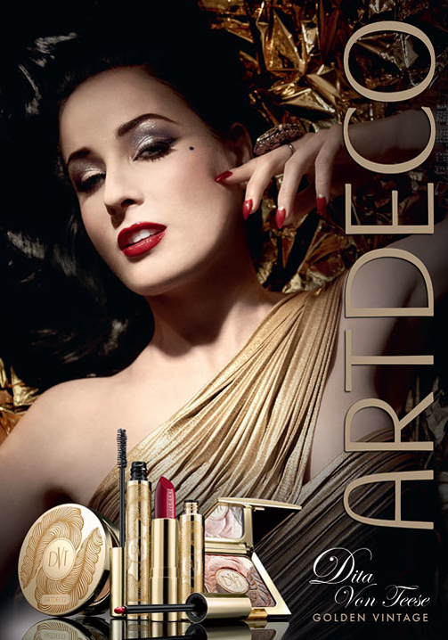 Dita Von Teese Golden Vintage, glamorous gold collection in limited edition