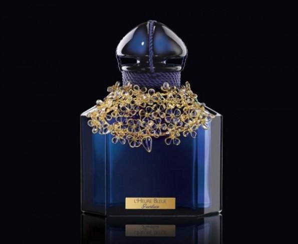 L'Heure Bleue di Guerlain, edizione di lusso in cristallo e oro con Baccarat e Gripoix