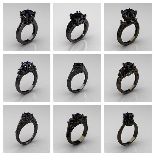 in vendita 52ecb bd7c5 Etsy, anelli in oro nero dallo stile romantico   La ...