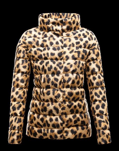 Moncler Gamme Rouge, giubbino a trapunta effetto boudin stampa ghepardo-w600-h600