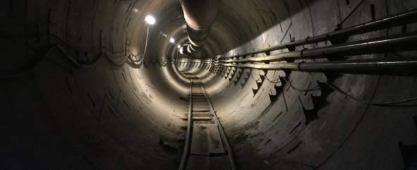binari sotterranei Boring Company